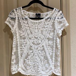 Ultra Flirt lace blouse.